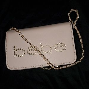 Crossbody Blush Bebe Gemma Crystal Logo